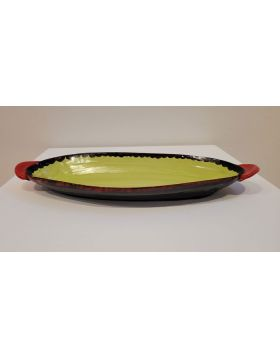 Chartreuse Oval Platter 1-RAB
