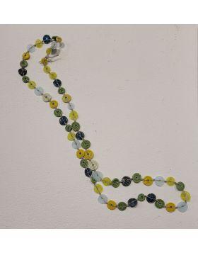 Blue/Green Disc Necklace SMI 37