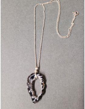 Agate Slice Necklace SAC 992